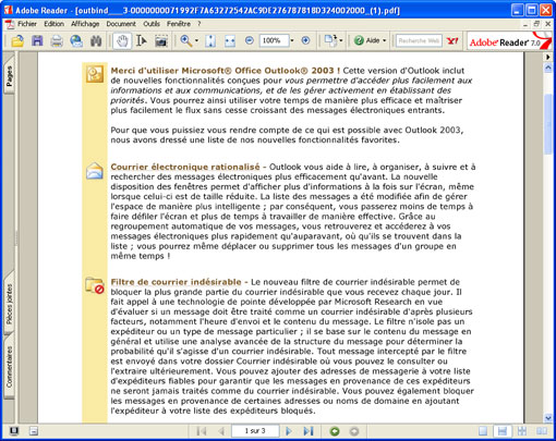 Convertir un courrier lectronique outlook en un fichier - Convertir fichier pdf en open office ...