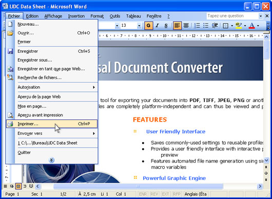 convertir un document word    doc  en un fichier pdf